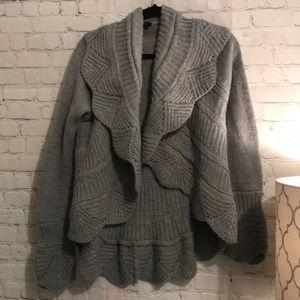 BCBG Maxazria Scalloped Style Sweater